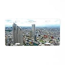 Tokyo, Japan, metropolis Aluminum License Plate