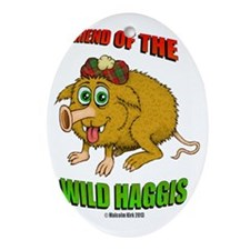 Friend of The Wild Haggis Oval Ornament