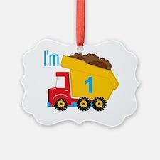 Dump Truck Im 1 Picture Ornament
