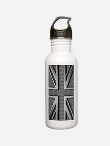 Union Jack Brushed Met Stainless Steel Water Bottle