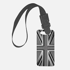 Union Jack Brushed Metal Flag Luggage Tag