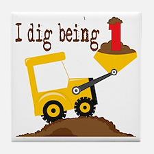 I Dig Being 1 Tile Coaster