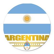 Flag of Argentina Round Car Magnet