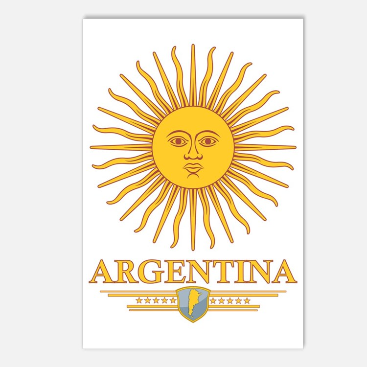 Argentina Sun Postcards (Package of 8)