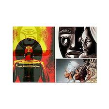 African Goddess Rectangle Magnet