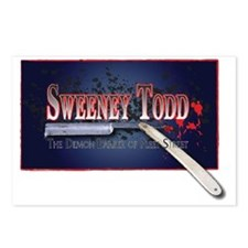 Sweeney Todd Cast Tshirts Postcards (Package of 8)