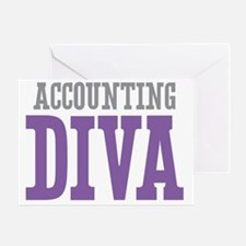 Accounting DIVA Greeting Card