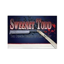 Sweeney Todd Logo Rectangle Magnet