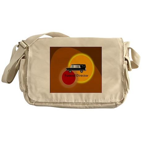 funeral director Abstract Messenger Bag