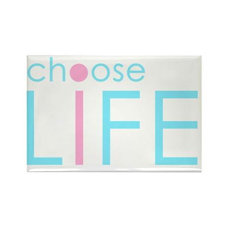 Choose Life : Blue Rectangle Magnet