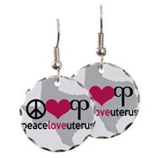 Peace Love Uterus TEXAS Earring