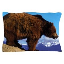 A Grizzly View Pillow Case