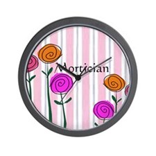 Mortician floral roses Wall Clock