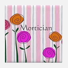Mortician floral roses Tile Coaster