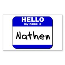 hello my name is nathen Rectangle Decal