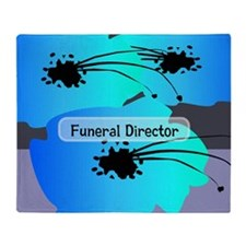 funeral director floral Throw Blanket