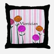Mortician floral roses Throw Pillow