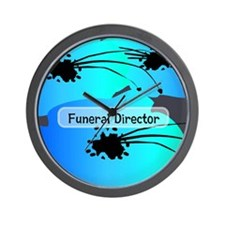 funeral director floral Wall Clock