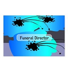 funeral director floral Postcards (Package of 8)