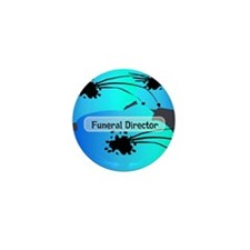 funeral director floral Mini Button