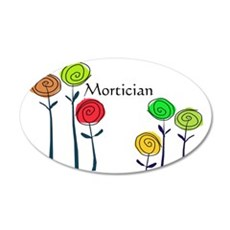 mortician floral roses 2 Wall Decal