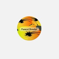 funeral director floral yellow Mini Button