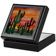 Cactus Desert Sunset Keepsake Box