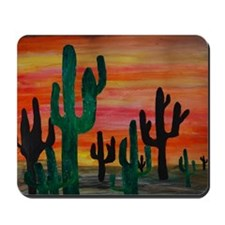 Cactus Desert Sunset Mousepad