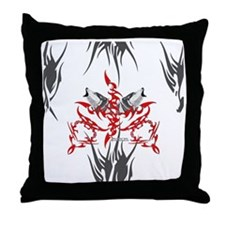 Tribal Wolves Throw Pillow