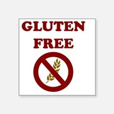 "Gluten Free Square Sticker 3"" x 3"""
