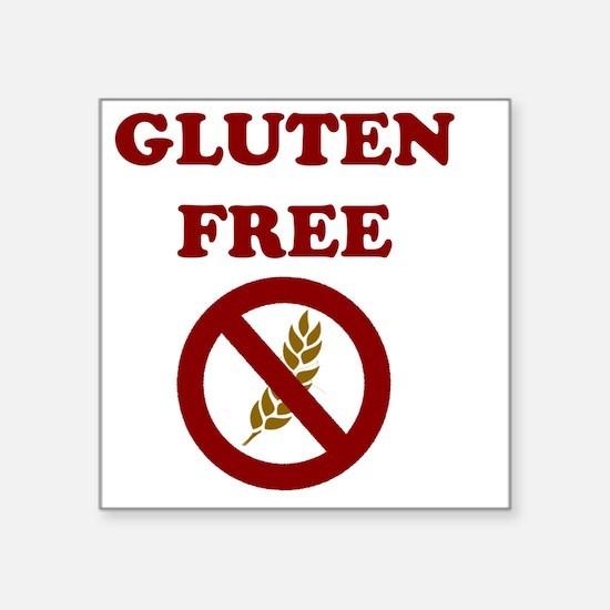 "Gluten Free Square Sticker 3"" x 3"""