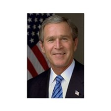 SALE! $1.30 off! George W Bush Photo Magnet