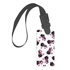 Black and Pink Roller Skates Pri Luggage Tag