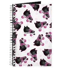 Black and Pink Roller Skates Print Journal
