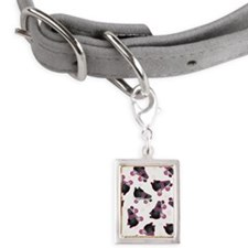 Black and Pink Roller Skate Small Portrait Pet Tag