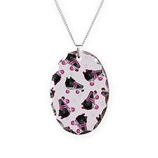 Black and Pink Roller Skates P Necklace