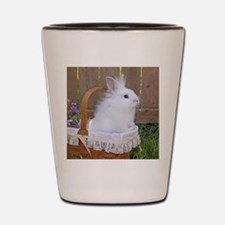 Bunny in a basket Shot Glass