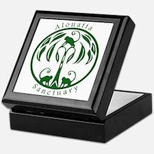 Alouatta Sanctuary Logo (Green) Keepsake Box