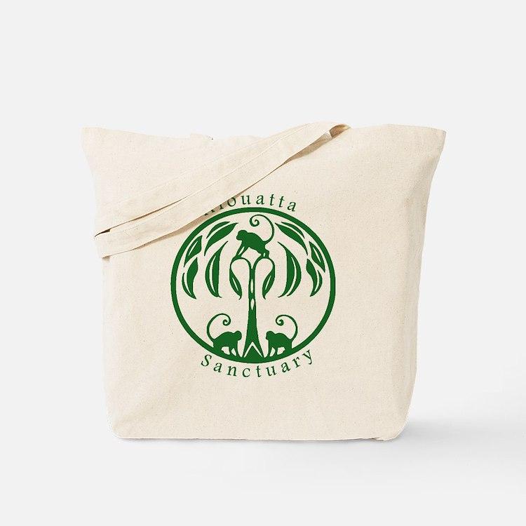 Alouatta Sanctuary Logo (Green) Tote Bag