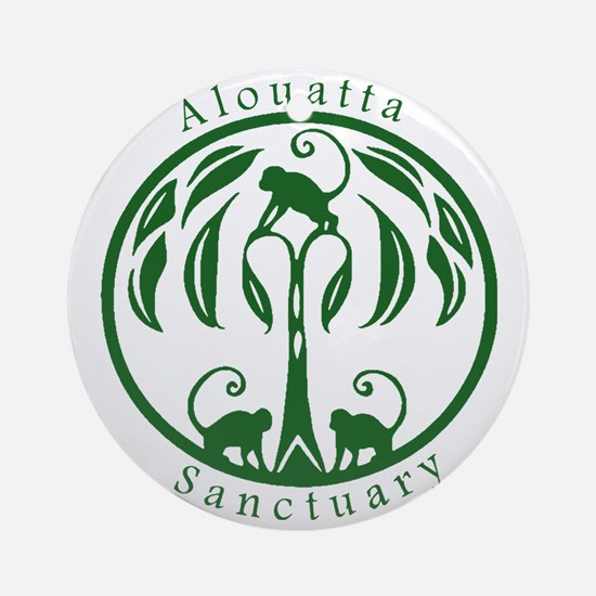 Alouatta Sanctuary Logo (Green) Round Ornament