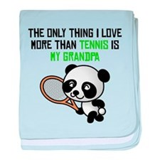 Tennis Grandpa baby blanket
