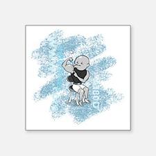 """AI80D_date4_aqua Square Sticker 3"""" x 3"""""""