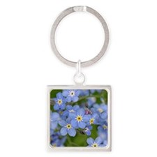 Forget me nots Square Keychain