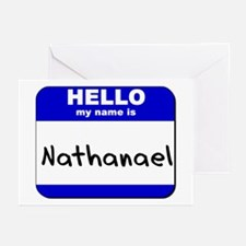 hello my name is nathanael  Greeting Cards (Packag