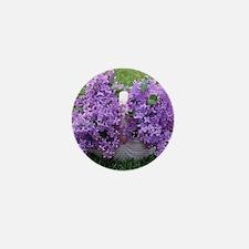 lilac basket Mini Button