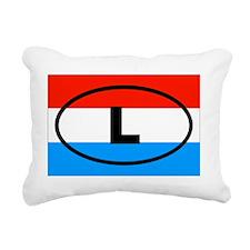 Luxembourg L European Rectangular Canvas Pillow