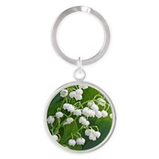 Lily of the Valley Round Keychain