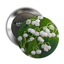 """Lily of the Valley 2.25"""" Button"""
