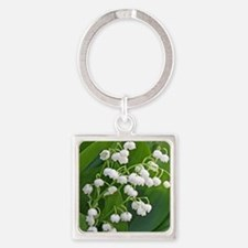 Lily of the Valley Square Keychain