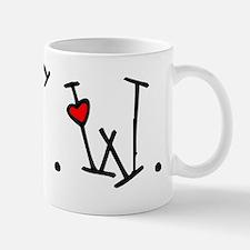 BSW Hearts dark text Mug